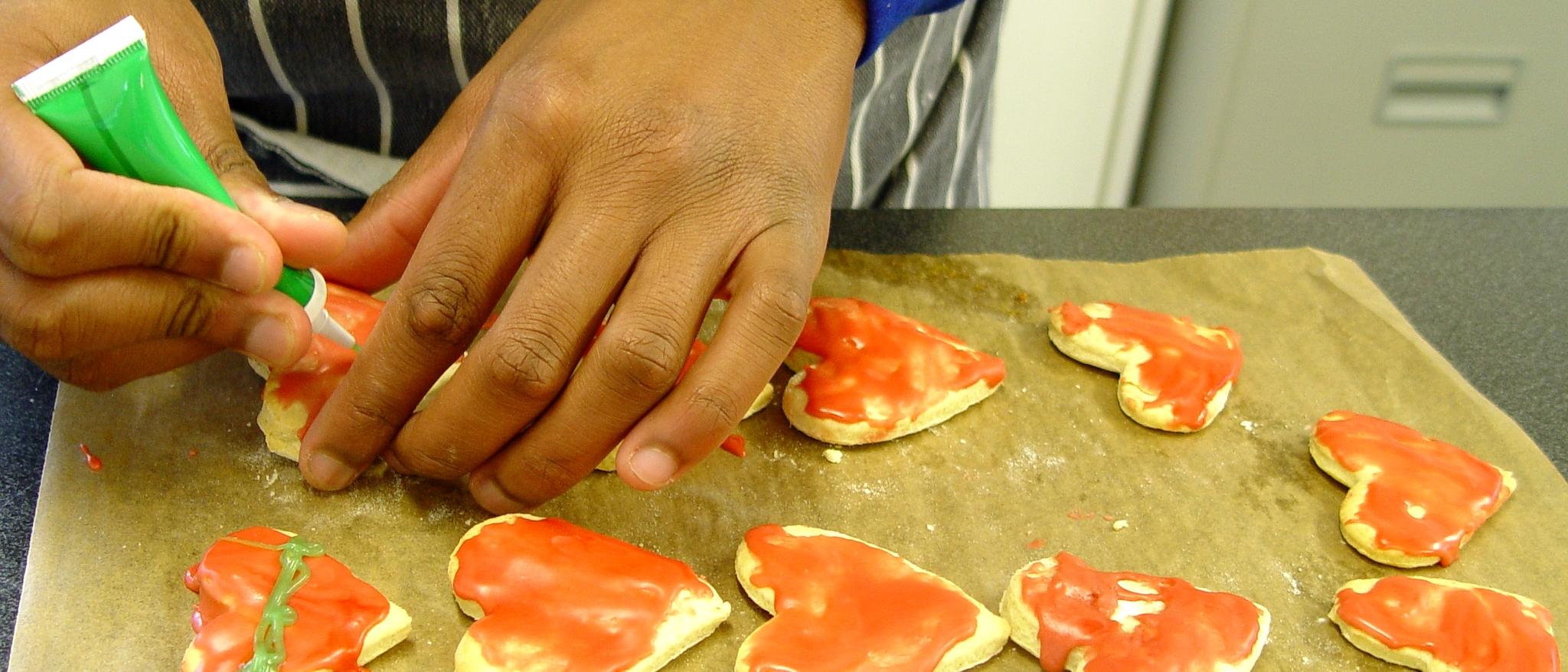 Class 10EG Valentine Biscuits